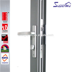 Superwu soundproof aluminium folding glass door price with Australian standards AS2047 on China WDMA
