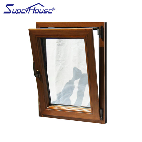 Swing opening type doors and windows aluminum clad wood tilt and turn window for luxury house on China WDMA