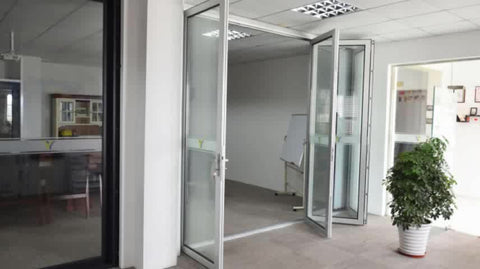 Exterior folding doors double glass/Aluminium double glazed windows and doors comply with Australian & New Zealand standards on China WDMA