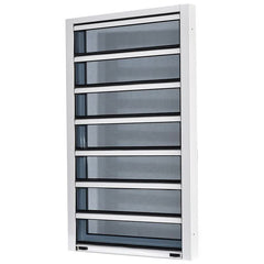 Adjustable Aluminum Glass Louvered windows With Removable Screen on China WDMA