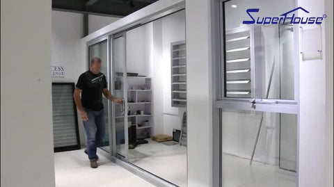 double glazed soundproof aluminum interior office door with glass window on China WDMA