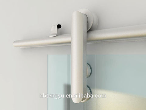 TENGYU Modern Aluminum Sliding Glass Barn Door Hardware Track Kit System on China WDMA