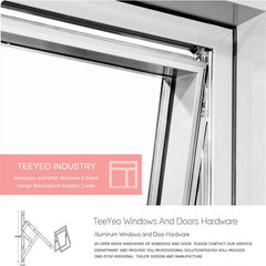 Teeyeo 2017 iron window grill design pictures aluminum awning bracket window and door on China WDMA