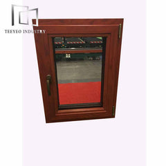 Teeyeo American style aluminum frame casement awing window with tinted glass on China WDMA