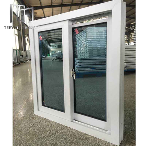 Teeyeo Hurricane proof impact window pvc sliding windows office glass sliding windows on China WDMA