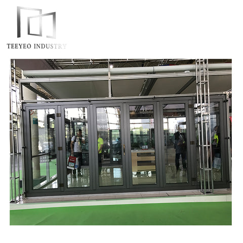 Teeyeo aluminium interior folding doors white on China WDMA
