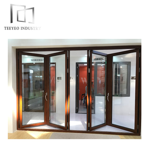 Teeyeo aluminium solid bifold interior doors on China WDMA