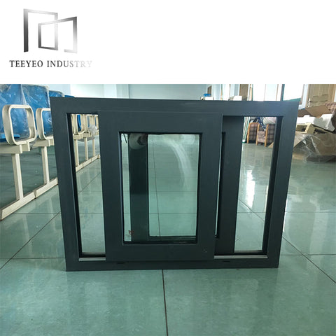 Teeyeo aluminium three track sliding window frames for sale