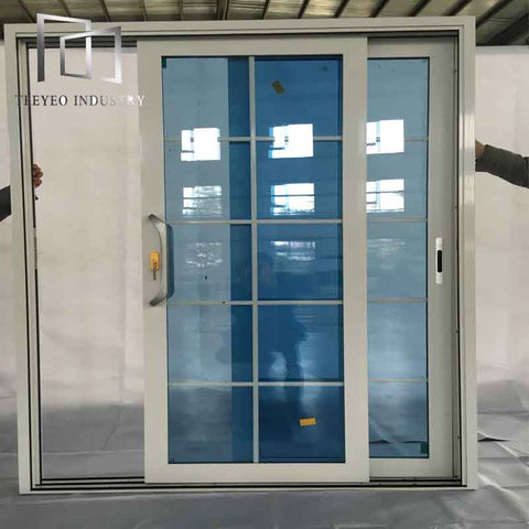 Teeyeo aluminum sliding french type window with ventilator lover on China WDMA