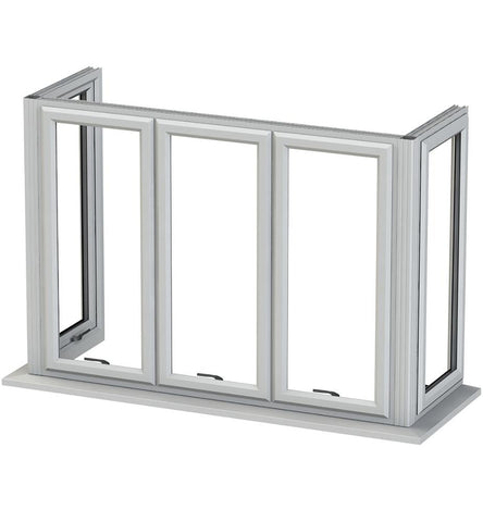Teeyeo cheap french casement uPVC bay windows for sale with georgian bar on China WDMA