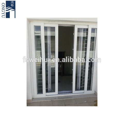 Tempered Glass Leaded Fancy Interior Balcony Sliding Upvc European Style 3 Panel Accordion External Patio Used French Door on China WDMA