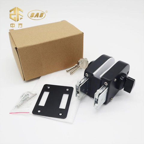 Tempered Glass sliding door Lock Frameless Stainless Steel 304 glass to wall 2 way lock on China WDMA