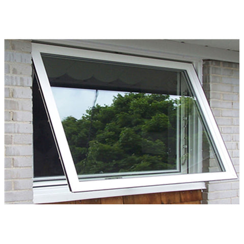 Tempered Single Glass Aluminum Frame Top Hung Window Wide Awning Window on China WDMA