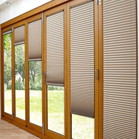 Tempered glass aluminum sound proof screen folding patio door on China WDMA
