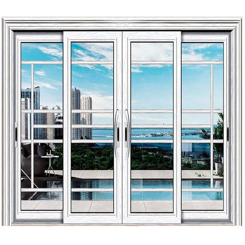 The latest design Aluminum windows and doors manufacturer Aluminum Sliding Open Style modern Glass Designs For Front Doors on China WDMA