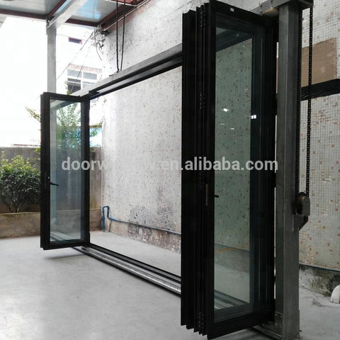 The newest bi-fold window with double glass glazing door hinge bi folding windows and doors on China WDMA