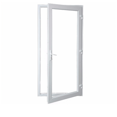The newest pvc double glass exterior door doors in dubai Factory Direct Price on China WDMA