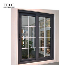 Thermal Break Aluminum Profile Three Track Sliding Window With Inside Grill on China WDMA
