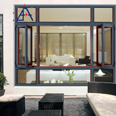 Thermal Break Aluminum Swing Sliding French Awning Tilt & Turn Fixed Double Hung Casement Window Door on China WDMA
