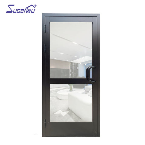 Thermal break aluminium casement door/high quality casement door/used commercial glass doors for sale on China WDMA