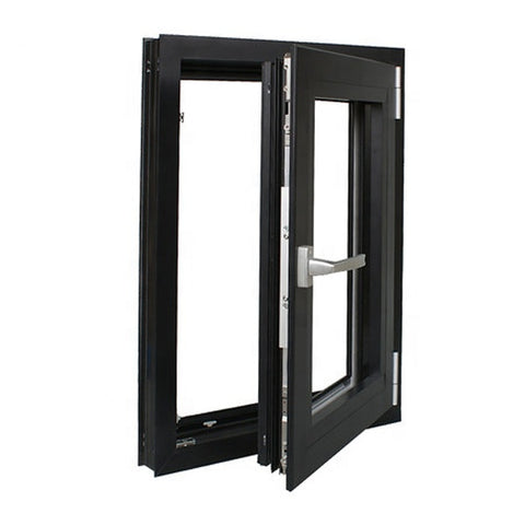 Thermal break aluminum frame double swing hinged window supplier on China WDMA