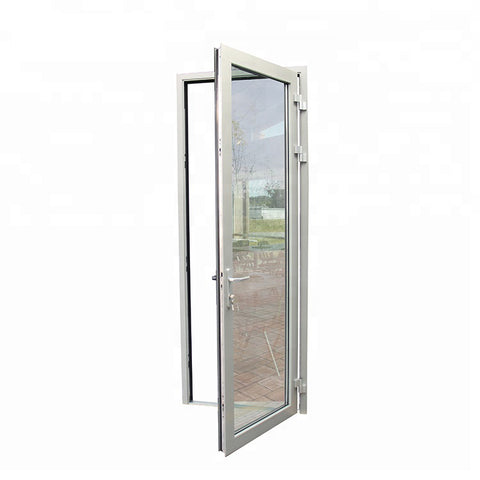 Thermal break aluminum tempered glass french external door on China WDMA