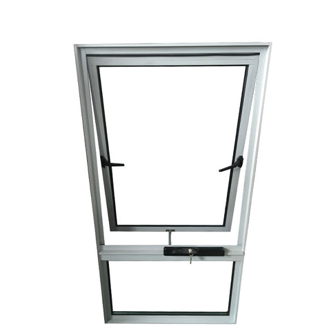 Thermal break double Glass Patio Aluminum Alloy Frame Awning Windows With Insect Screen on China WDMA