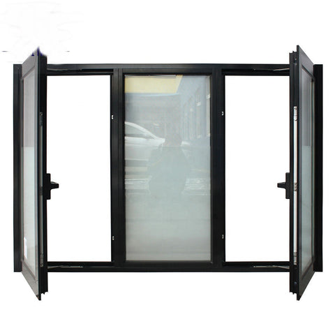 Thermal break double tempered glass casement window aluminum on China WDMA