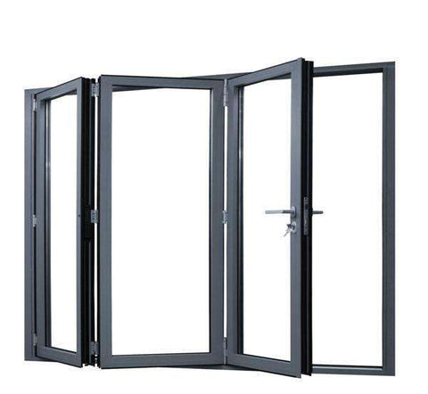Thermal break profiles aluminium folding doors double tempered glazing on China WDMA