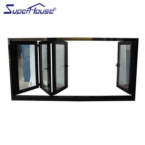 Thermal brokenly profile aluminium bifolding windows house window for sale on China WDMA