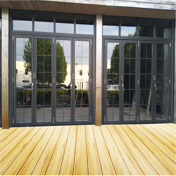 Classic Series Thermal Break Aluminum Heavy Duty Bi-Fold Glass Door on China WDMA
