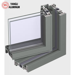 Thermally insulated system for outward opening windows aluminium profile