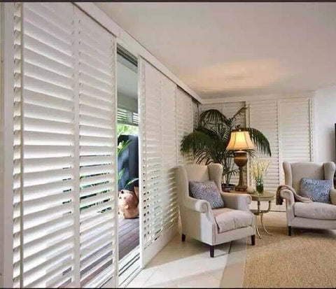 Tilt rod on the Edge Door plantation shutters 89mm louver Door shutters on China WDMA