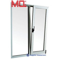 Tilt turn design aluminium glass balcony doors and windows with grill on China WDMA