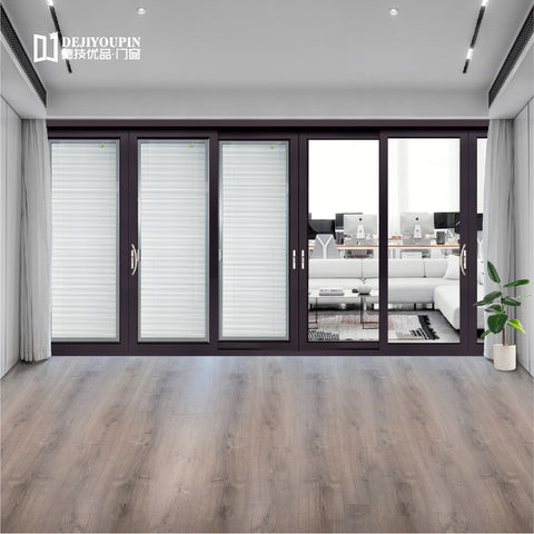 To get $1500 cash coupon Factory price D100N aluminum framed gliding patio french sliding door with insect screen on China WDMA