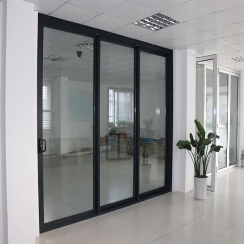 Top Window 96 x 80 Sliding Glass Door 3 Panel Sliding Patio Door Price Aluminum Door on China WDMA
