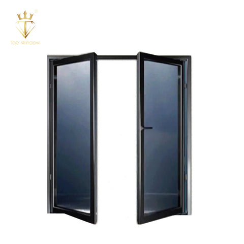 Top Window Aluminum big glass door with grilled designment aluminum patio french door security bar for french door on China WDMA