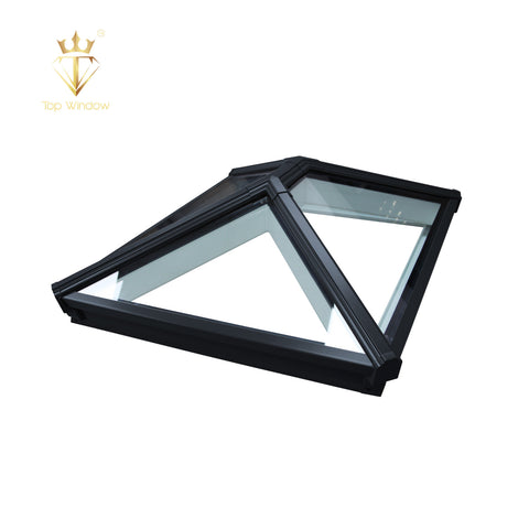 Top Window House Top Use Customized Thermal Break Circular Glass Double Glazed Aluminum Window Glass Skylight on China WDMA