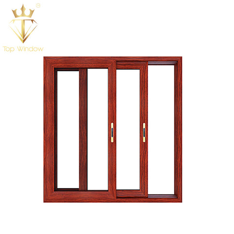 Top Window New design Economic Aluminum Double Glass Sliding Window and Door on China WDMA