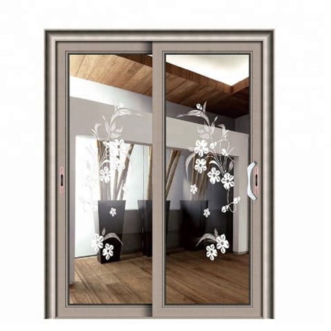 Top aluminum sliding design drawing room internal door with glass on China WDMA