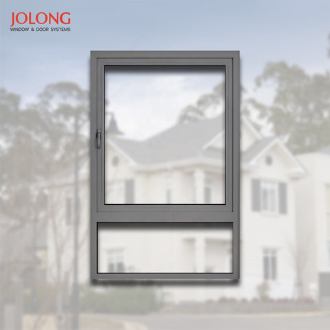 Top hung awning outward temper glass casement aluminium alloy double glaze glass window on China WDMA
