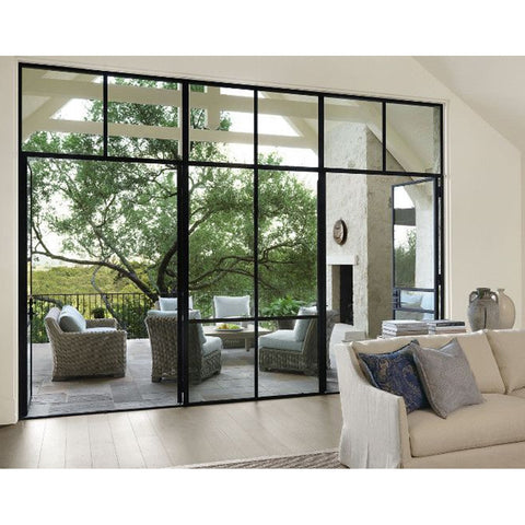 Top quality bifold patio entry door wrought iron french door and window deign for factory price on China WDMA