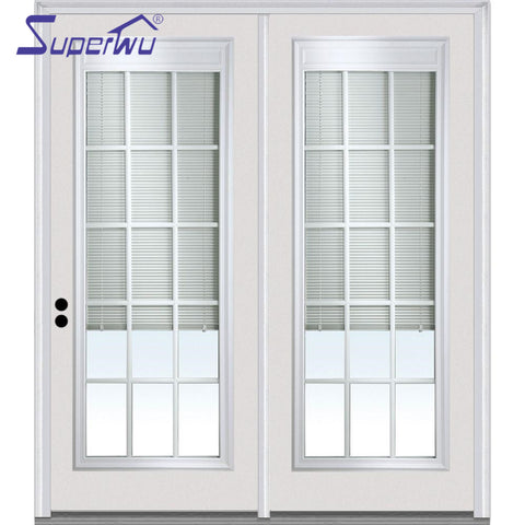 Top sale manufacturer pvc with the blinds inside swing doors on China WDMA