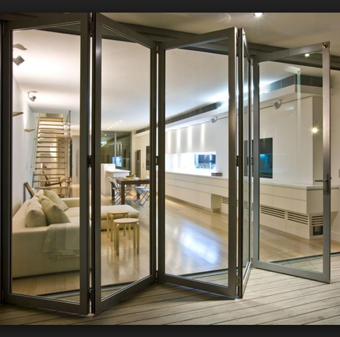 Top selling High quality aluminum folding glass patio door with good price on China WDMA
