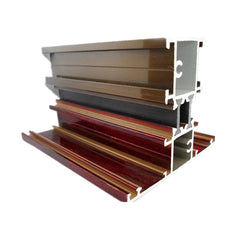Top selling best price wood grain aluminium window door extrusion profile for home on China WDMA