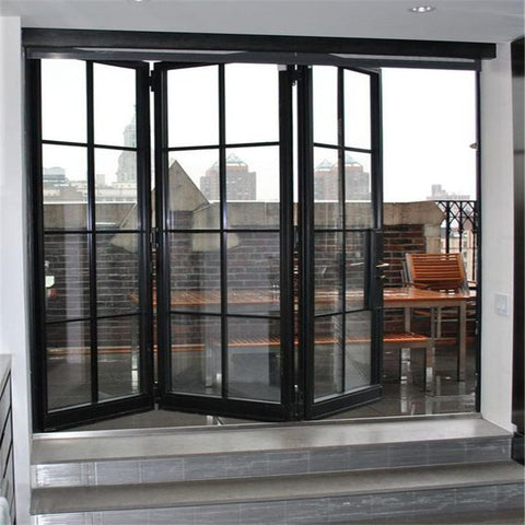 Topwindow Aluminium Cheap Folding Window Aluminum Bi Fold Bifold Windows Price on China WDMA