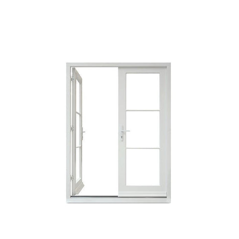 Topwindow Australia Russia Hurricane Impact French Casement Sliding Glaze Openable Windows UPVC PVC Double slide window on China WDMA