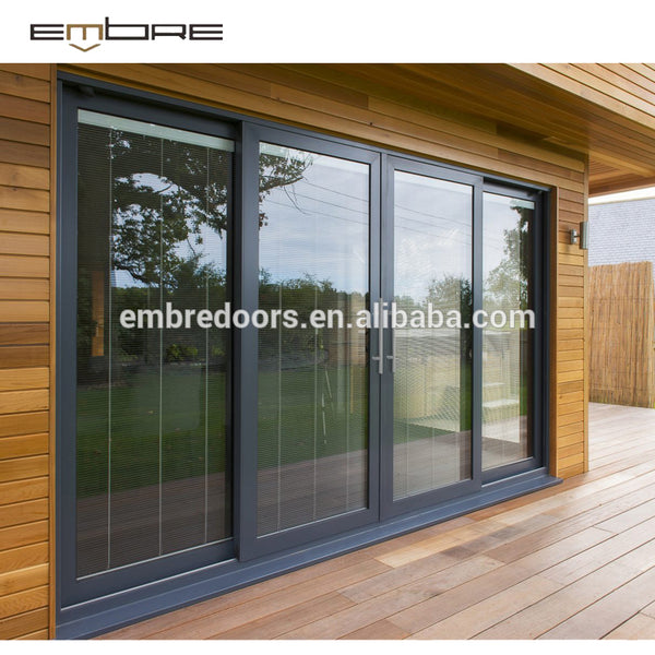 Triple Track Aluminum Sliding Door with Screen on China WDMA
