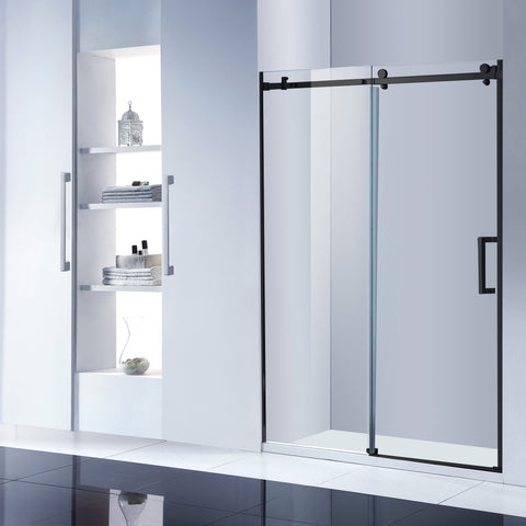 Two panel oem odm good quality bath sliding glass shower room doors on China WDMA