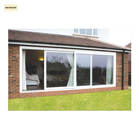 Low Cost Double/Triple Glazing Fostered PVC French Sliding Glass Doors on China WDMA